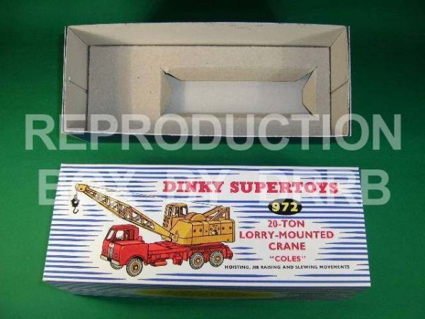 Dinky #972 Coles 20T Lorry Mounted Crane - Reproduction Box